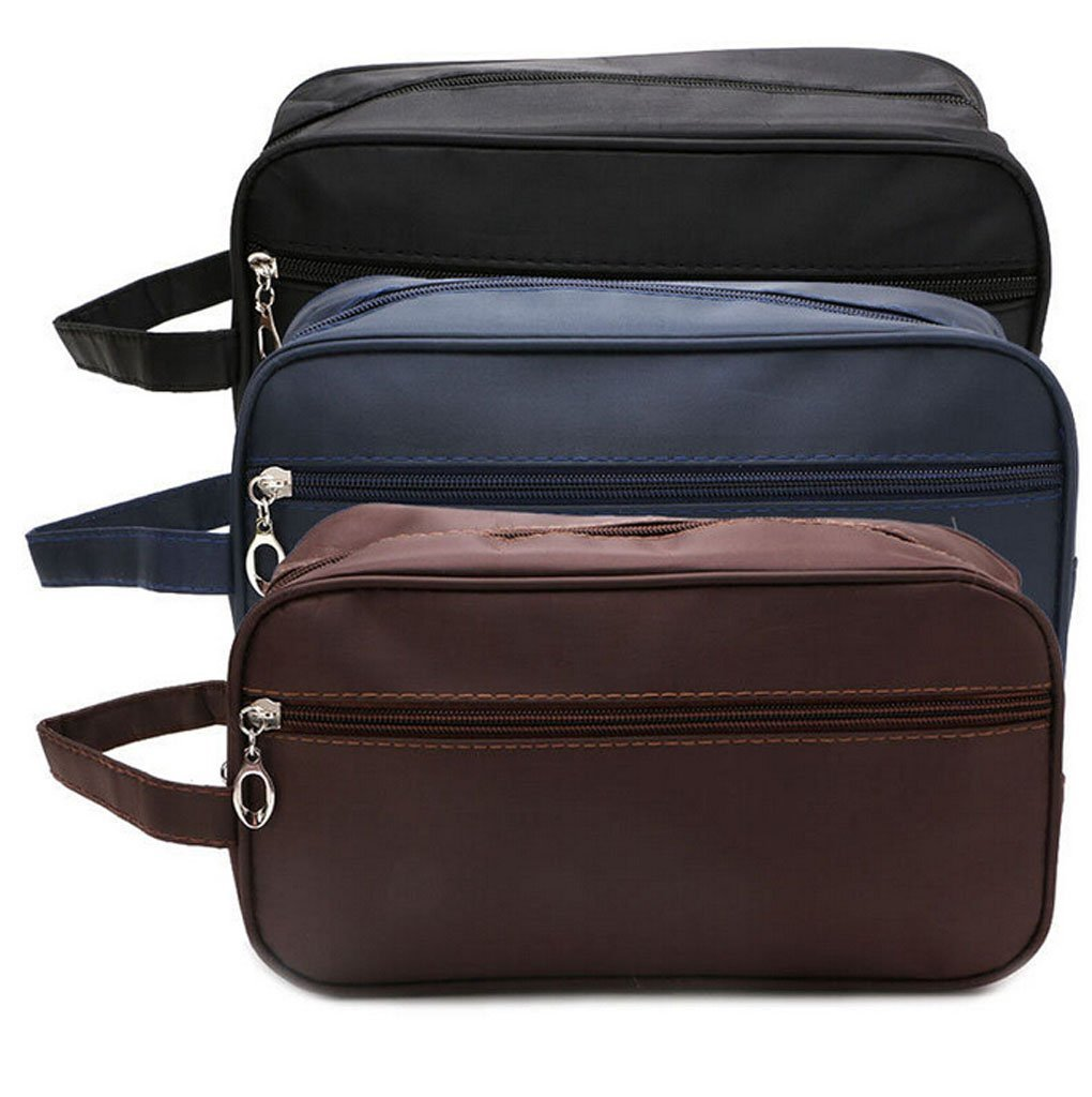 1d0ce2c783c1 PU Leather Travel Toiletry Bag for Men or Women Waterproof. Travel Size  Toiletries Bag Toilet