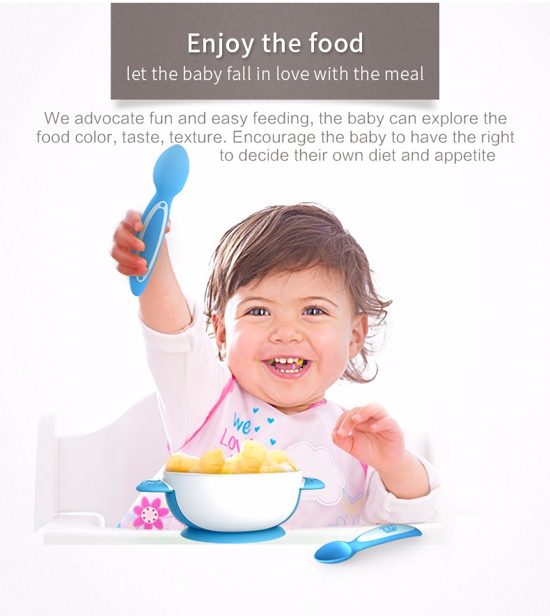 Baby Supplies Antibacterial Kids Feeding Bowl Set With Suction