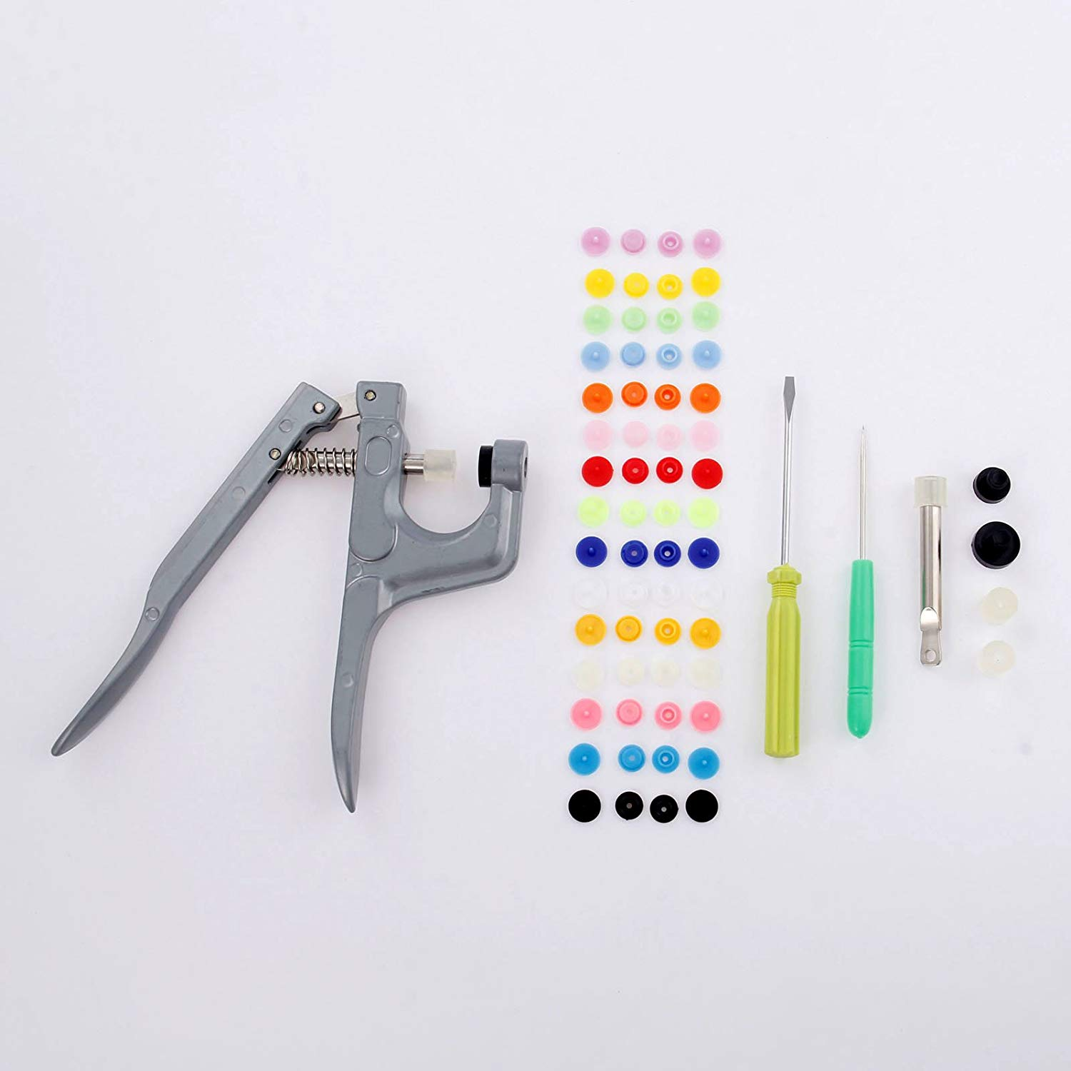 1 Set Snap Plier Tools T3 T5 T8 Deduction Clamp+300pcs-T5 Snap Buttons Sewing Supplies for Fastener Diaper DIY Mixing