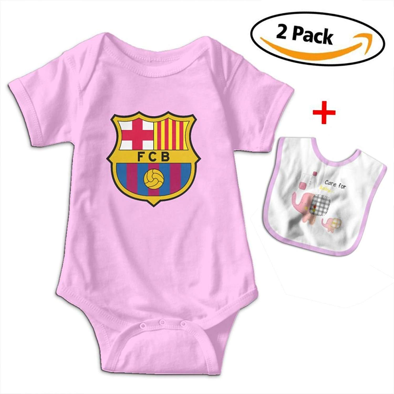 Get Quotations · ONT-BSA Fc Barcelona Football Club Bodysuit Baby Newborn  Infant Baby Clothes T-Shirt 218deda81ff