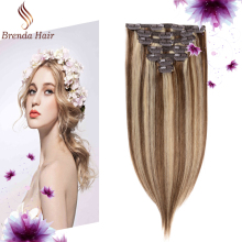 aliexpress natural long pure 613 blonde ombre color virgin european remy human hair clip in hair extensions
