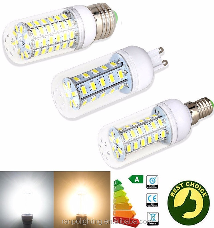 Top quality popular 5730 SMD LED Corn Light Lamp Bulb 5W 24LEDs E27 Non Dimmable Cool Warm Natural White AC110V Energy Saving