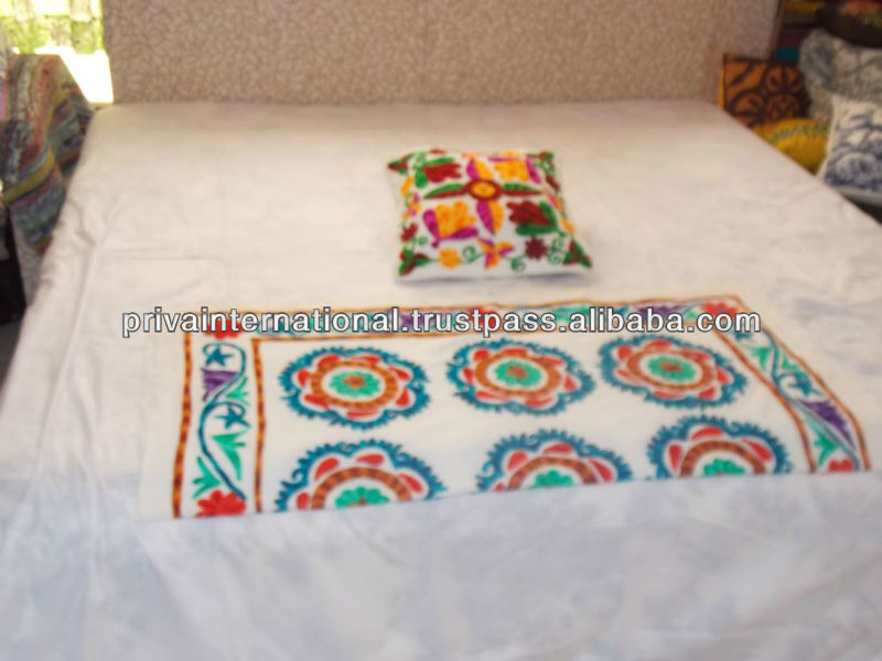 Indian home decor/Elephant applique patchwork Table Cloth runner