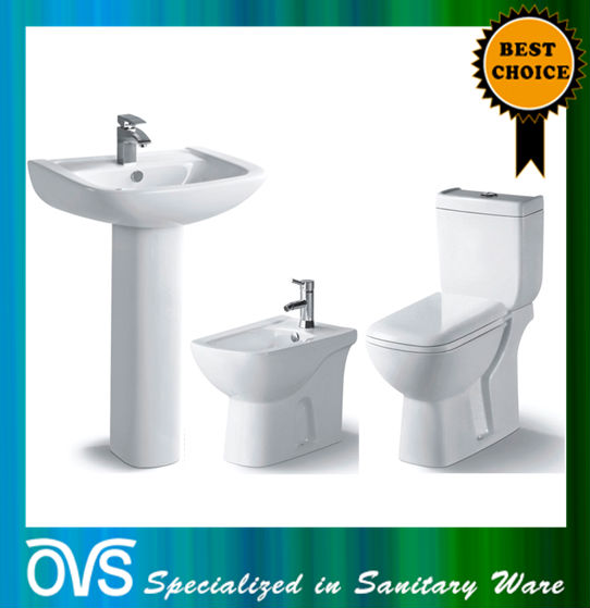 ovs foshan sanitary ware toilet with basin A1001B