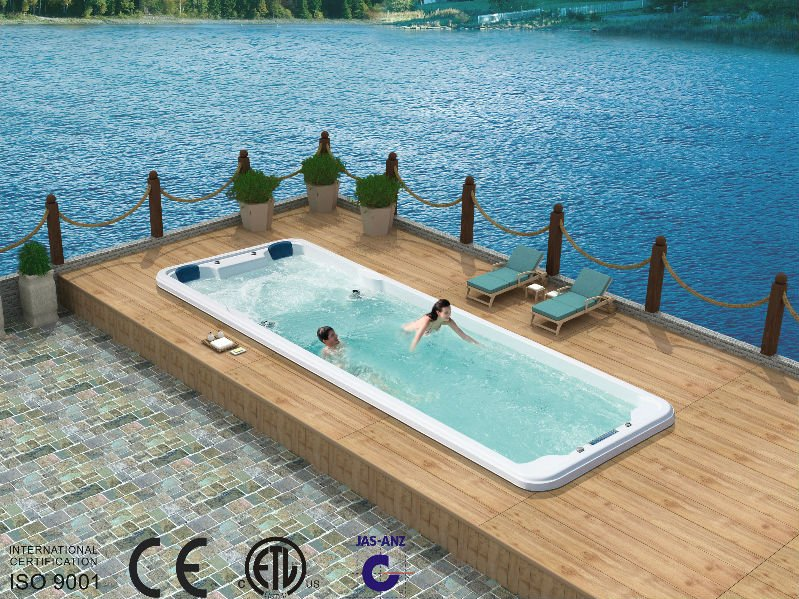 8 meter large Swim pool FS-S08B luxurious swim hot tub, View swim ...