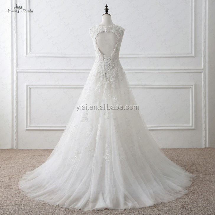 RSW1053 Keyhole Back A Line Robe De Mariage Wedding Dresses