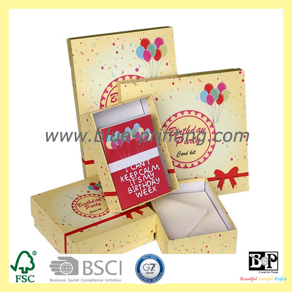 2015 FSC Certificate New DIY Craft Card Kit for Birthday Party