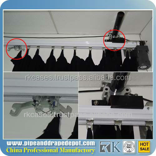 electrically operated curtains for theater