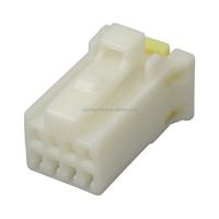 White waterproof 8 pin electrical plastic female connector