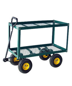 foldable wire mesh trolley/garden tool cart with 4 wheels TC4204A
