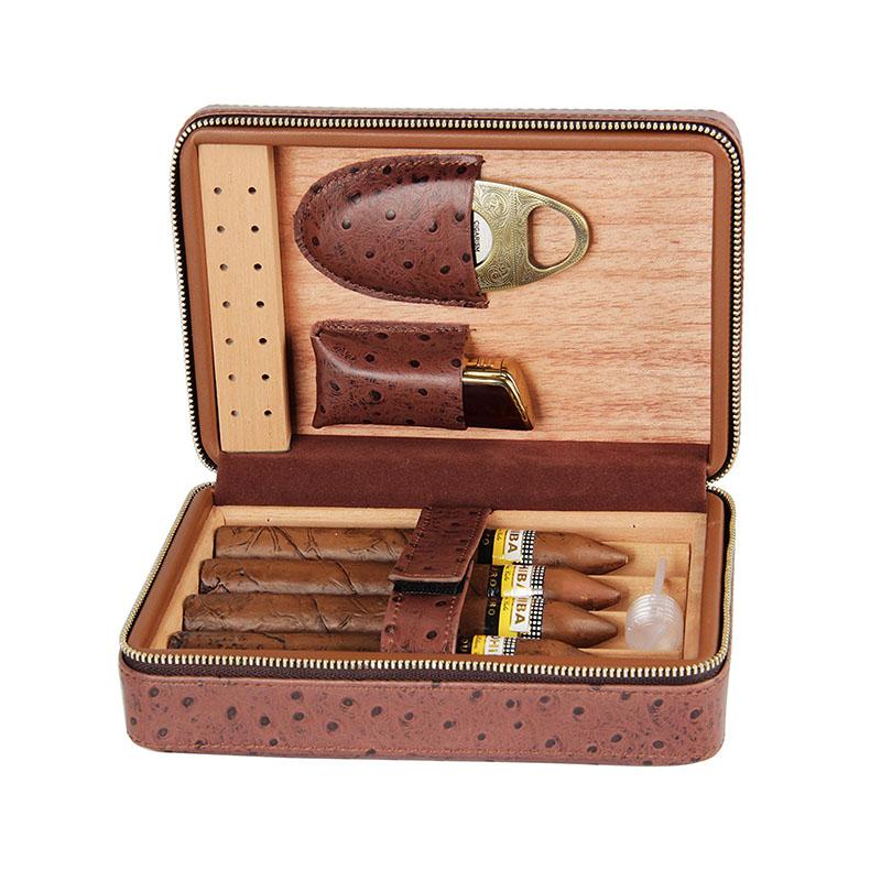 Customized luxury cigar humidor portable travel PU leather cigar gift box  sc 1 st  Alibaba & Customized Luxury Cigar Humidor Portable Travel Pu Leather Cigar ...