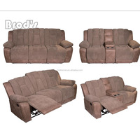 high quality Leather recliner 3 seater sofa ,motion sofa in living room furniture for sale