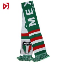 Good Quality Low Moq Custom Design Acrylic Football Soccer Fans Scarf