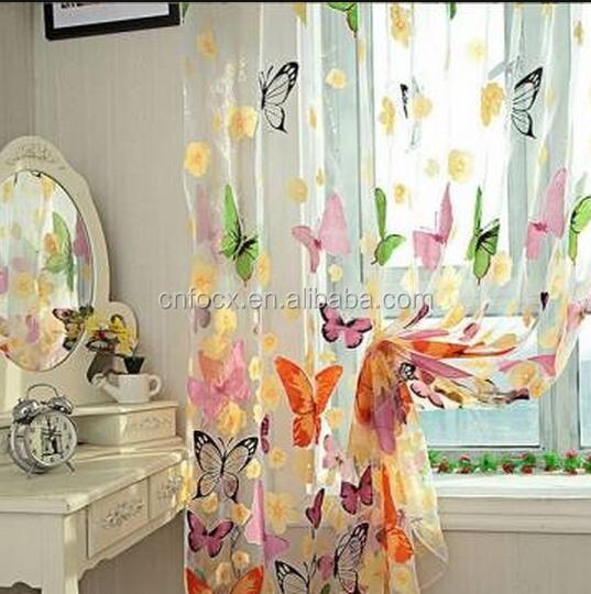 Vlinder Gedrukt Gordijnen Tule/deur Window Screen/gordijn En Raam ...