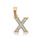 34183 Xuping fashion gold plated jewelry letter pendant alphabet wholesale bead cz letter charm