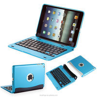 Bluefinger Bluetooth 3.0keyboard case cover for iPad Mini with detacable cover,calmshell keyboard,
