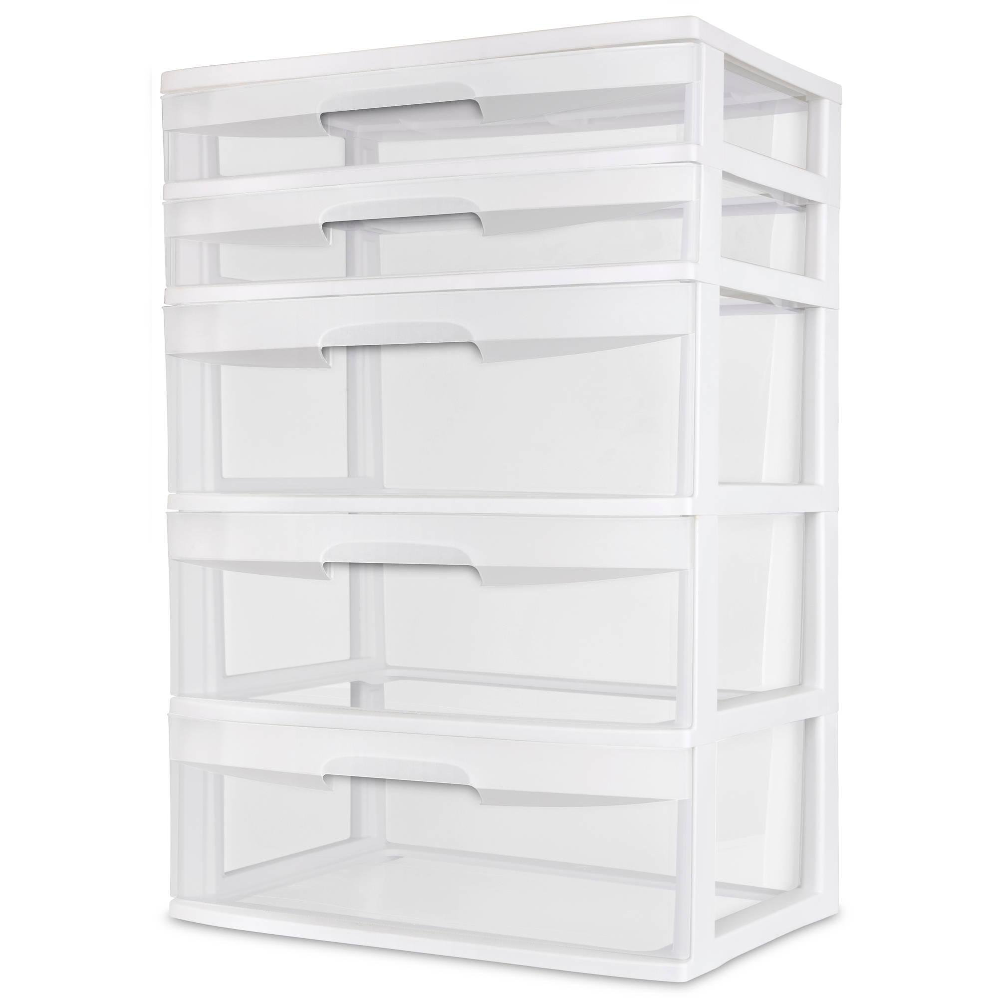 cart sterilite plastic drawer stacking box bins container black storage drawers photo orgenizer ebay stackable small