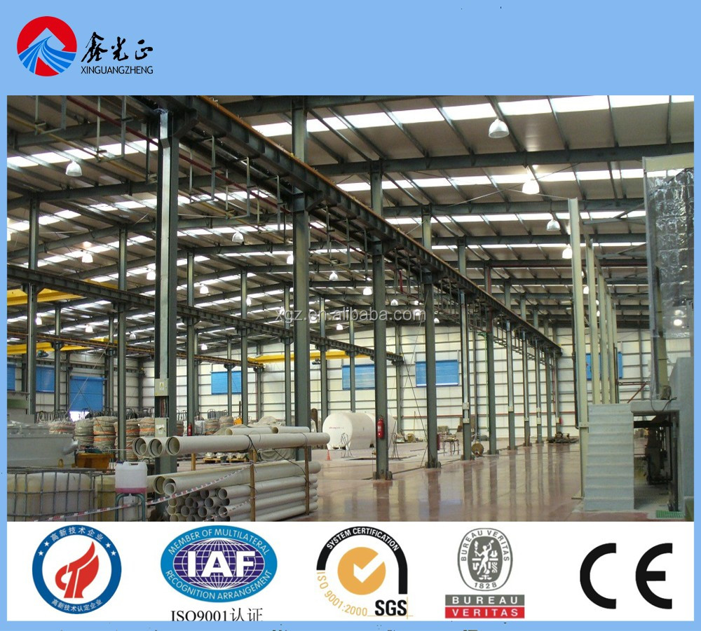 light weight steel structure frame, Hot rooled I section steel frame