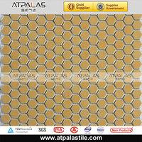 yellow hexagon ceramic floor tile mosaic textured ceramic wall tile