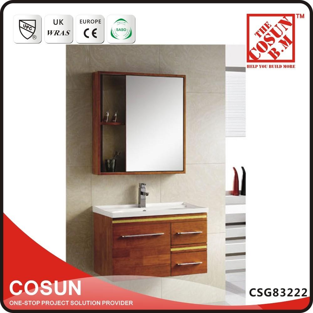 pas cher asiatique style brown en bois armoire de toilette unit vanity set - Ensemble Vanite Armoire