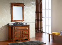 European style classical natural marble stone bathroom cabinets