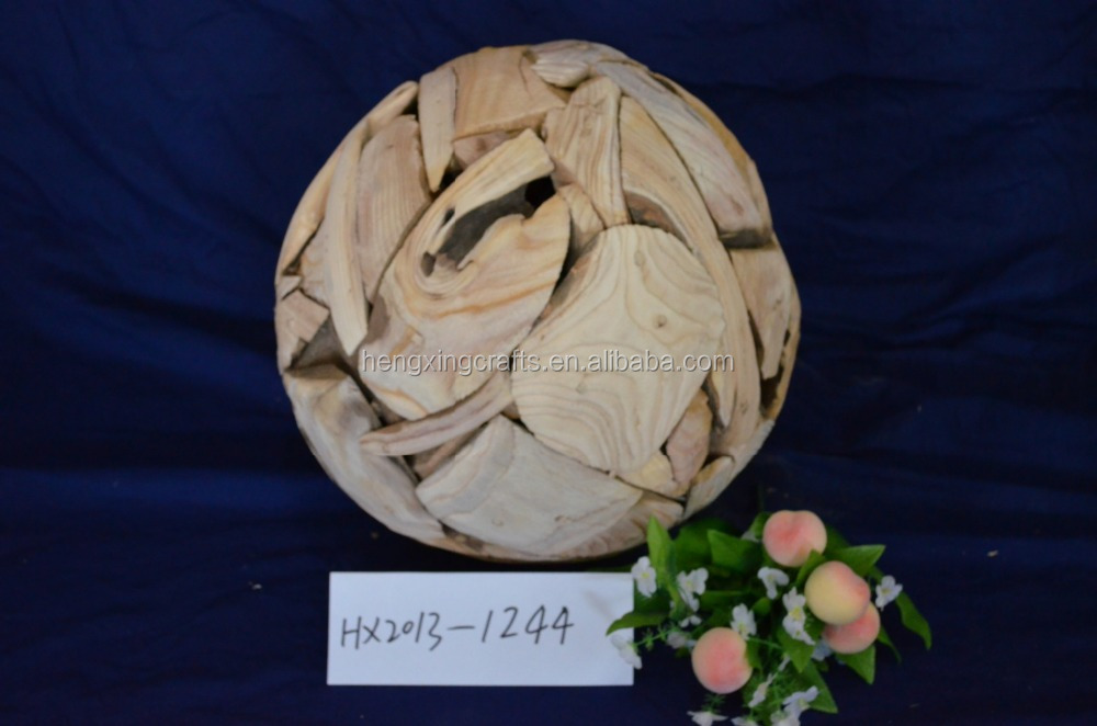 Natural And Eco-friendly Root Wooden Ball for Decoration