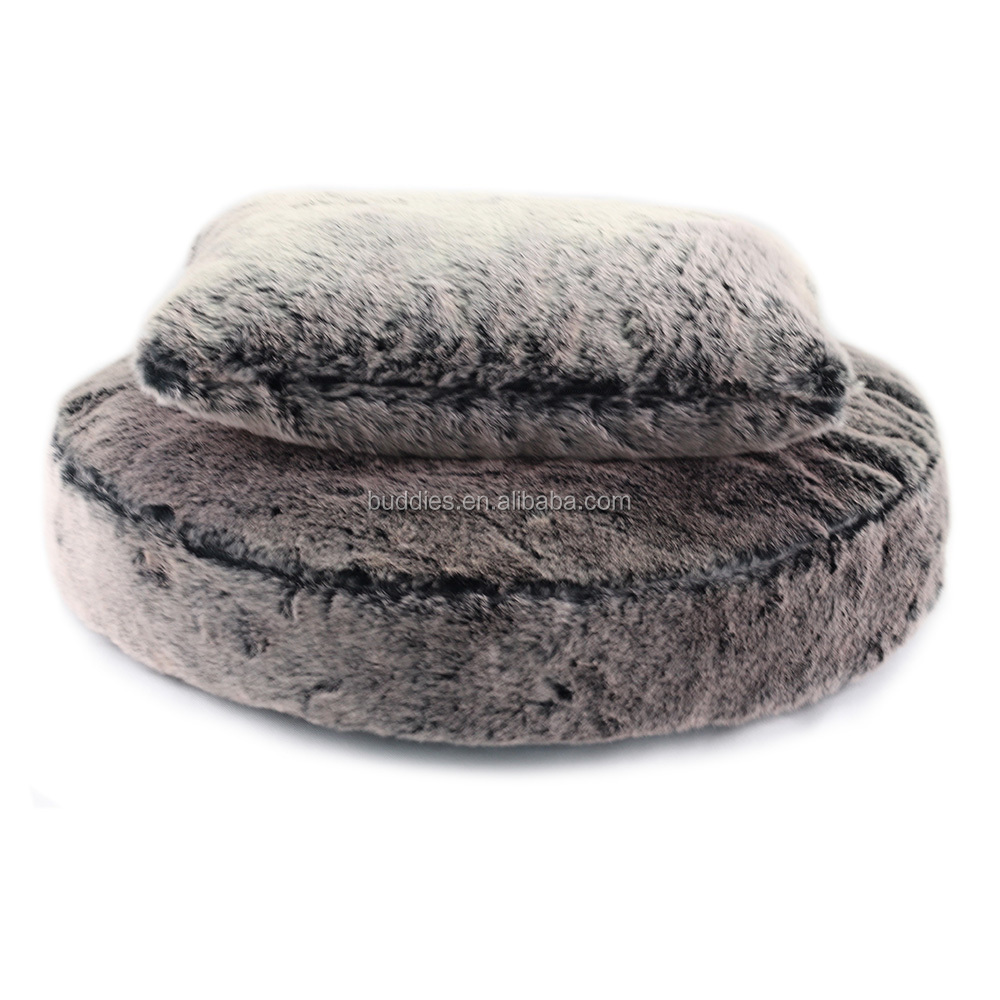 2017 New Luxury Faux Fur Round Pet Bed Pet Cushion