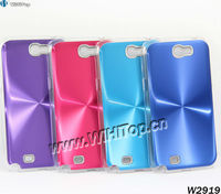 Clear Plastic Case Frame with CD effect Aluminum Alloy Plate Case for Samsung Galaxy Note II N7100