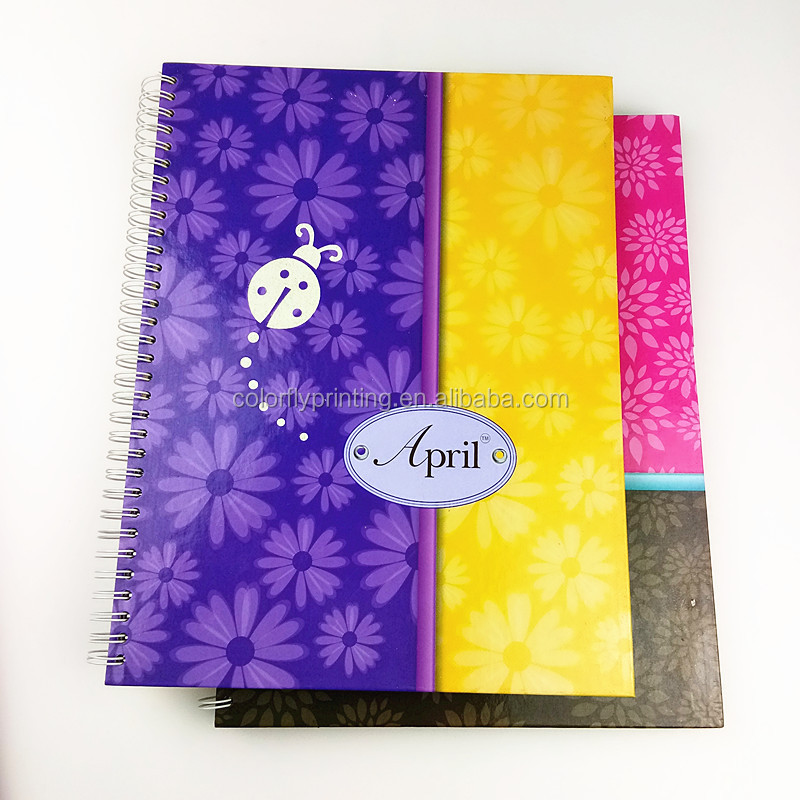 United States double spiral binding hardcover notebook with line page printing campus wholesale cheap
