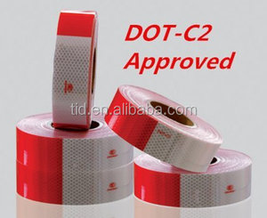 "DOT Reflective Tape - Red and White - DOT-C2 Conspicuity Tape - COMMERCIAL ROLL - 2"" inch x 150' FEET - Auto Car/Truck/Trailer/B"