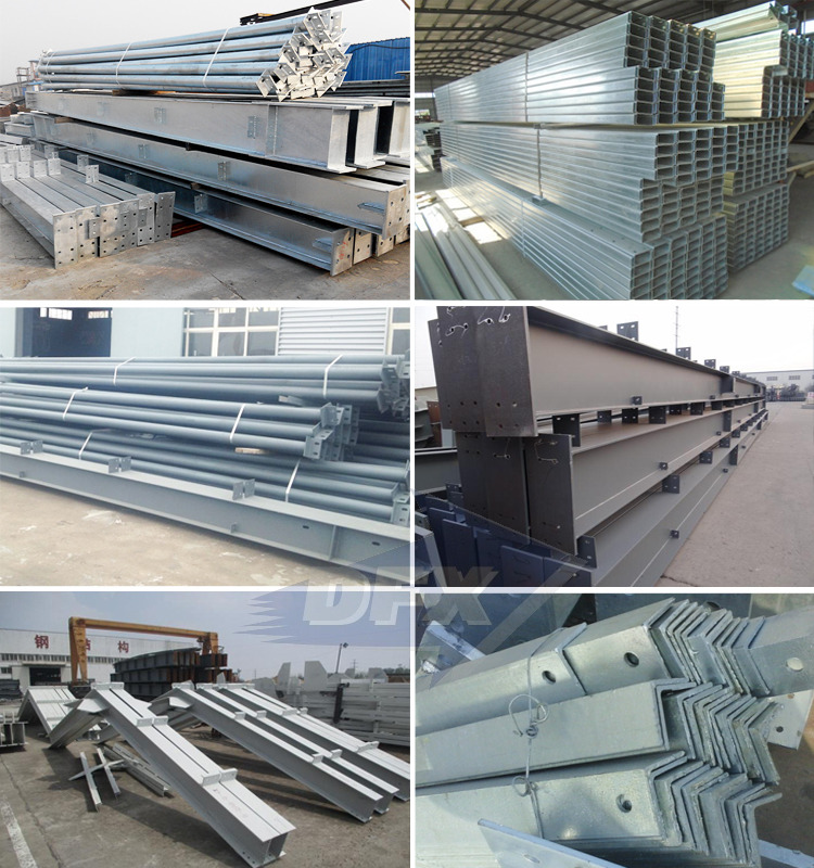 Qingdao prefabricated cement wall industrial metal frame warehouse design building