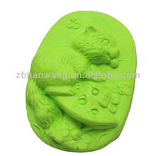 Kitty on mushroom silicone savon moules silicone chat moules de savon Nicole R0851