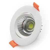 High quality PC and aluminum downlight ceiling recessed adjustable 5W cob round led spot down light