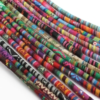 wholesale 6mm round small floral cotton stitched braided cord for rope bracelet jewelry making