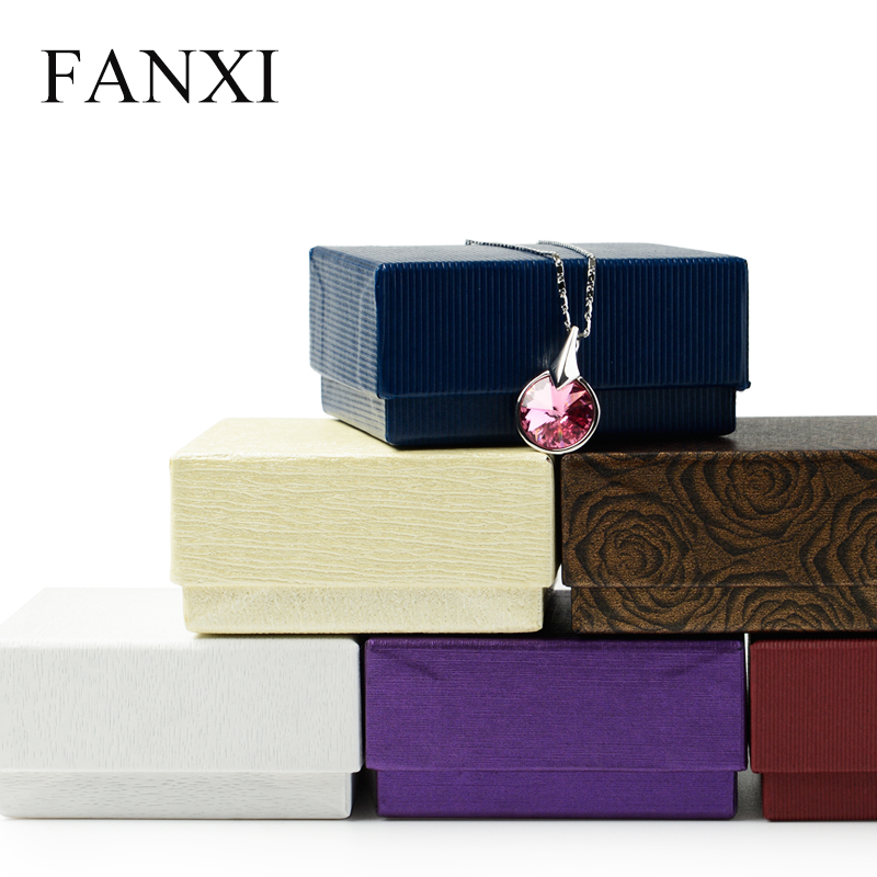 FANXI Wholesale Ring Necklace Bracelet Cardboard Boxes Foam Insert Gift Box Custom Paper Packaging Box