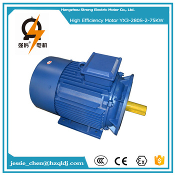 380v 75kw 100hp Ac Fan Cooled High Torque Low Rpm Electric
