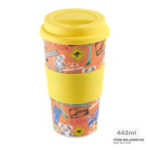 Plant Fiber Healthy Animals custom printed tea cups
