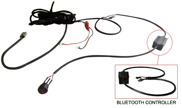 bluetooth control car light wire harness assembly switch