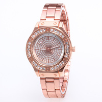 WJ-7788 Full Diamonds Luxury Fancy Rose Gold Watch For Women Casual Cheap Wholesale New Arrival Ladies Watch