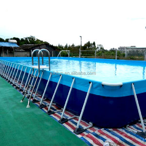 Steel and liner swimming pool supplier,rectangular metal frame pool  professional manufacturer,steel frame pool for sale