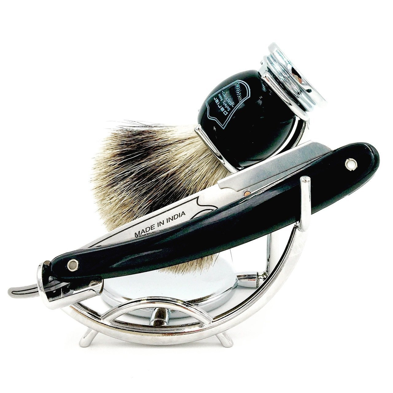 d53e7bae0dfc Parker s SRB Replaceable Blade Straight Edge Barber Razor Shave Set - Includes  Parker s 100% Pure