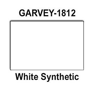 280,000 Garvey 1812 compatible White General Purpose Labels for G-Series 18-5, G-Series 18-6, G-Series18-7 Price Guns. Full Case + 20 ink rollers. WITH Security Cuts.