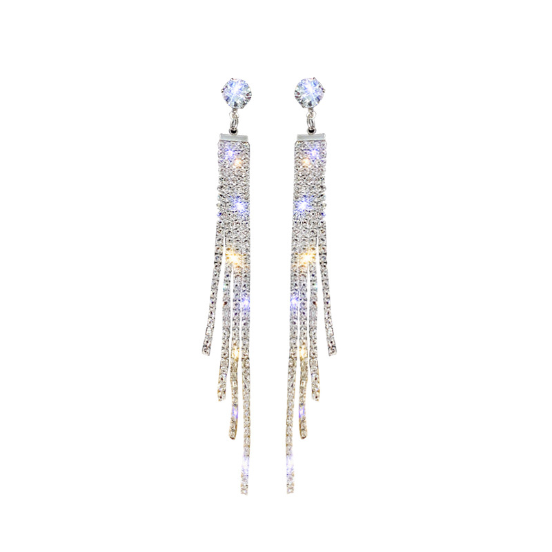 2019 indian stone drop gold plated statement stud crystal earrings jewelry 18K gold plated earrings woman