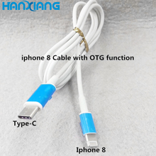 2017 New design with OTG function usb 3.1 type c charging cable for iphone 8 charger cable
