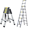 FREE STANDING A TYPE 1.7M+2.3M SOFT CLOSING TELESCOPIC LADDER