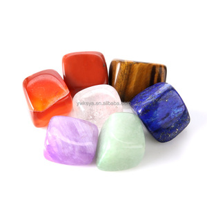 Wholesale Natural Semi-precious irregular stone beads Polishing 7 Chakra Set For Healing
