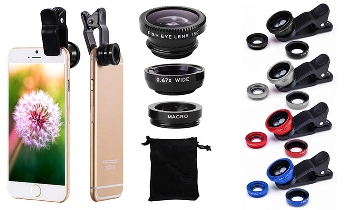 Groothoek en Macro Lens 2 in 1 Telefoon Lens Kit voor iPhone X 8 7 Plus Samsung iPhone Camera lens