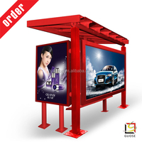 billboard advertising poster frame wholesale taxi top advertising light box solar lighting bus shelter