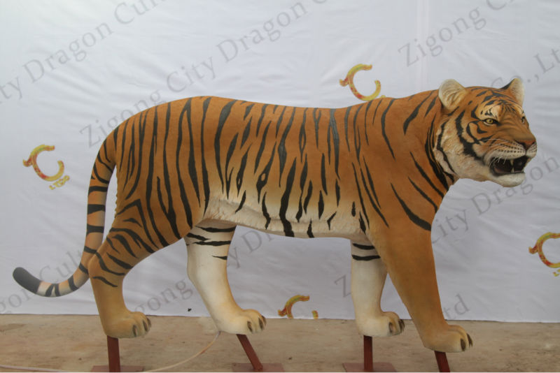 Great quality of outdoor decoration equioment metal tiger sculptures
