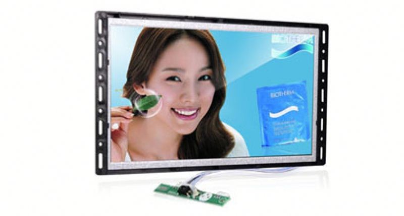 15 inch open frame wall mount lcd ad player